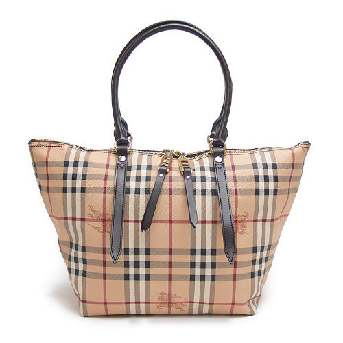 26e9461fb Burberry BURBERRY 3882392 2070T HAYMARKET SMALL SALISBURY TOTE zip tote bag  CHOCOLATE chocolate brown check ...