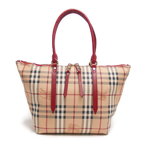82b6cc992 Burberry BURBERRY 3882557 6080T HAYMARKET COLOURS SMALL SALISBURY TOTE zip  tote bag MILITARY RED red check ...