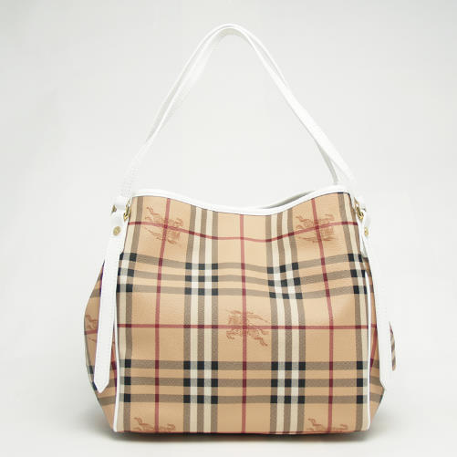 c89b615dd6f3 Burberry BURBERRY 3908605 1000T HAYMARKET PATENT COLOURS SMALL CANTERBURY  TOTE bag open that WHITE white check