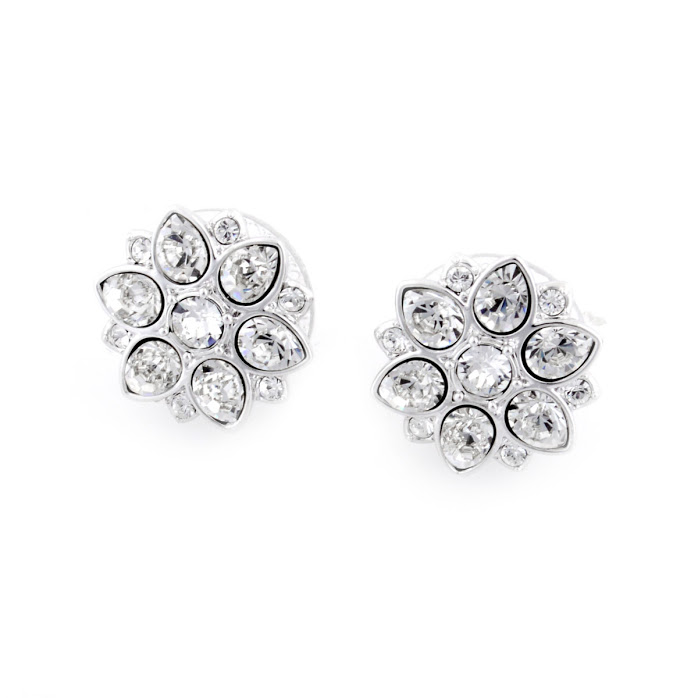 Swarovski 5112144 Celestial Flower Motif Crystal Pierced Earrings