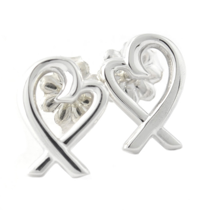 Tiffany 34595801 Paloma Pico Loving Heart Stud Earring Mini Ss Sterling Silver