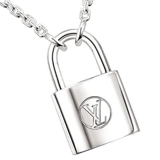 路易 · 威登路易 · 威登项链 pandantif 银伺机 Q93559 挂锁吊坠纯银 925 LV 儿童基金会儿童基金会交易