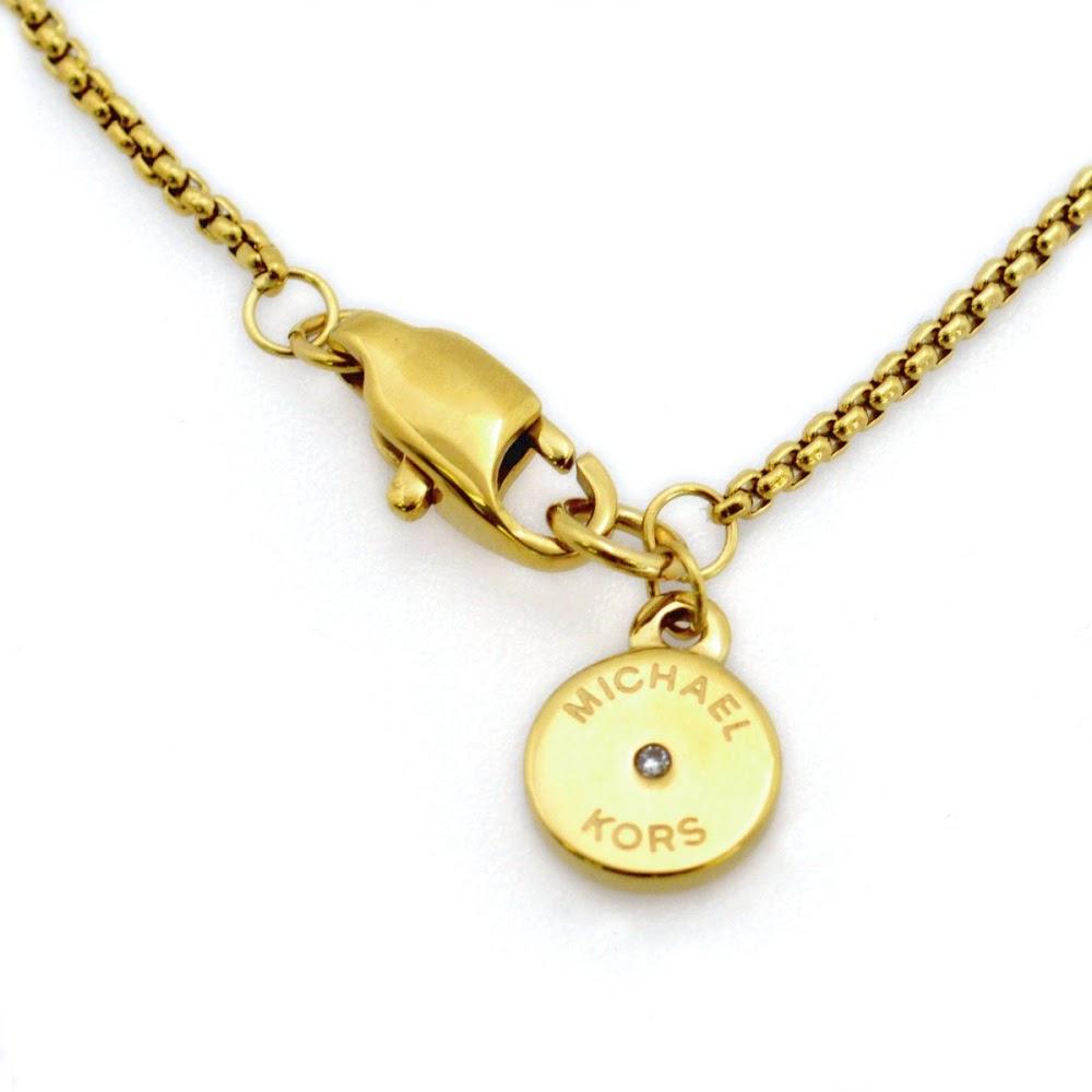 마이클 코스 MICHAEL KORS MKJ4265710 Pave Gold-Tone Heart Charm Pendant Necklace 파베하트챠무펜단트/목걸이