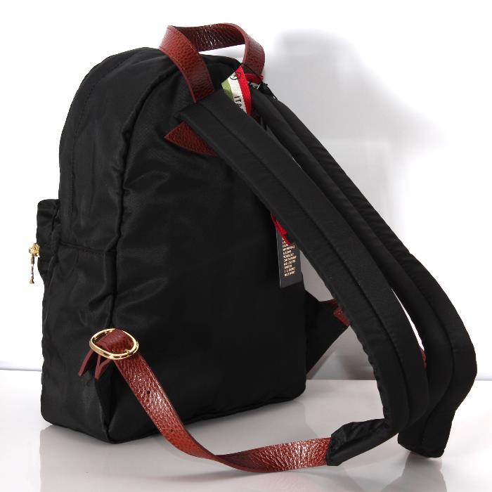 OROBIANCO orobianko ANTEPRIMA背包黑色利蒙架子鸢尾酮帆布背包