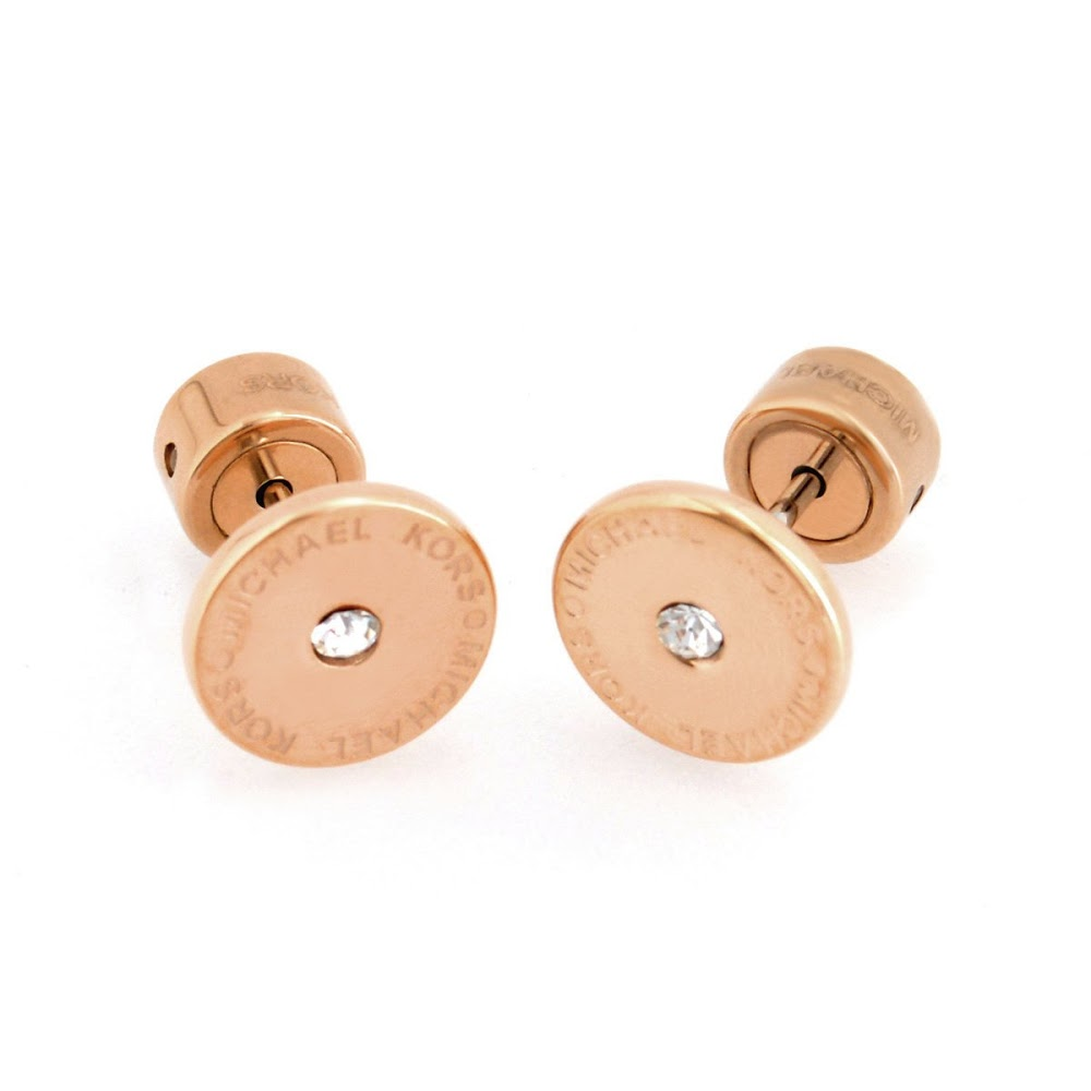 20d9ee273 Michael Kors MICHAEL KORS MKJ4670791 Pave Rose Gold-Tone Logo Stud Earrings  パヴェスタッドピアス ...