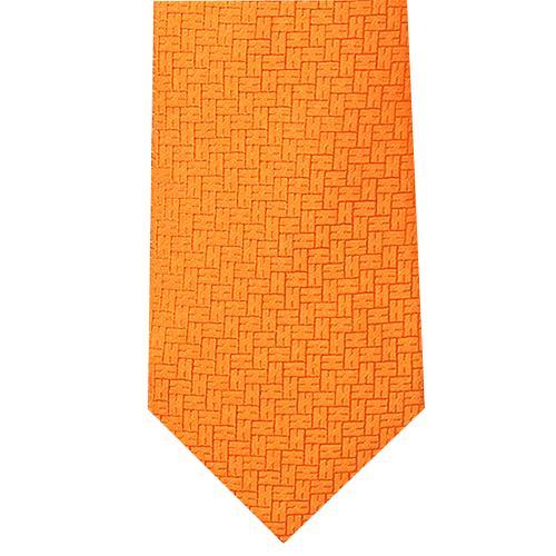 HERMES エルメスネクタイ Hブロック織シルク h030190 オレンジ ブルー ピンク【新品・未使用・正規品】