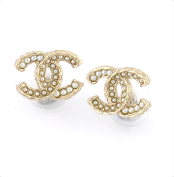 Coco Chanel Stud Cc Logo Earrings Mount Mercy University