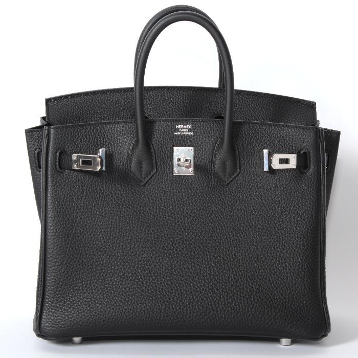 HERMES エルメス バーキン 25cm ブラック トゴ シルバー金具 バッグ Birkin bag 25 Black Togo leather Silver bag【新品・未使用・正規品】売れ筋