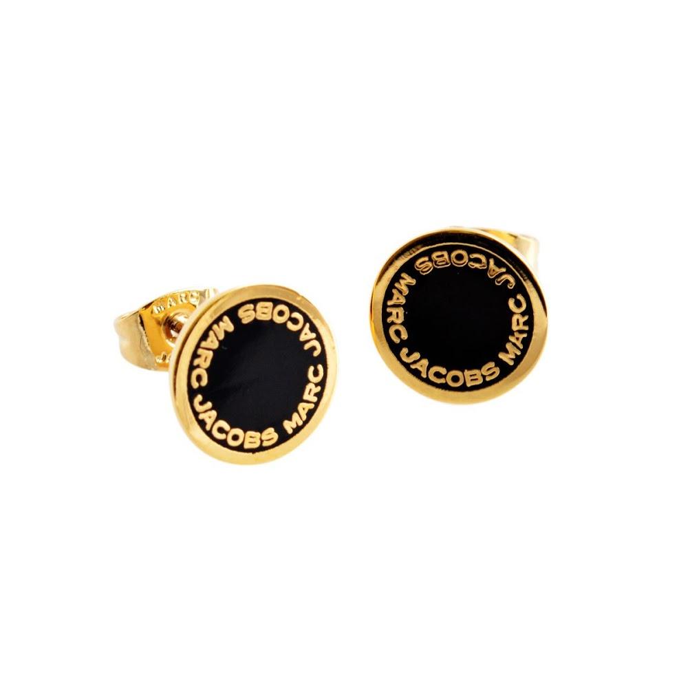 马克 · 雅各布斯马克 · 雅各布斯 M0008544-062 黑/破产管理署标识磁盘搪瓷螺柱耳环标志盘搪瓷纽扣