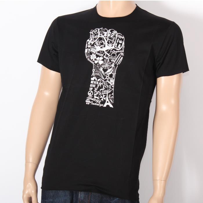 【決算セール】LUCIEN PELLAT-FINET ルシアンペラフィネ 半袖Tシャツ EVH1769 BLACK ブラック スカル ヘンプ ピース メンズ 【新品・未使用・正規品】売れ筋