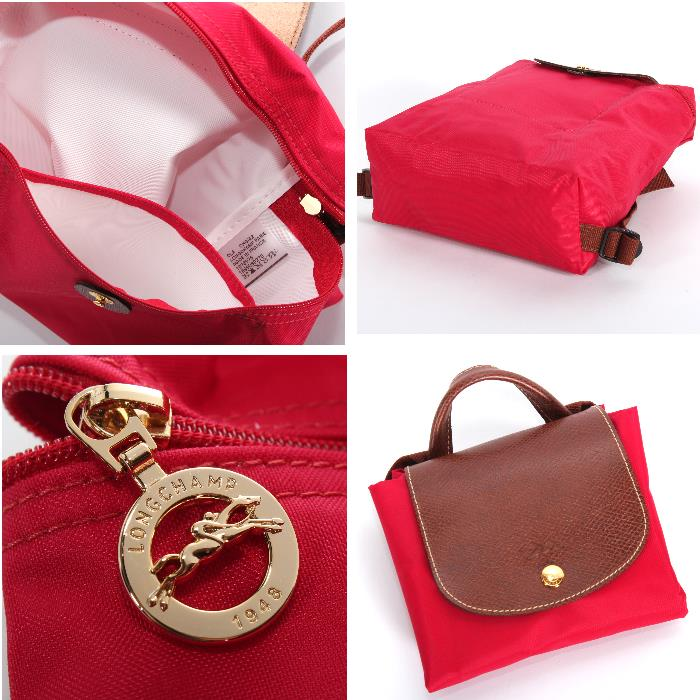 bb86d1221d4 Longchamp Longchamp backpack 1699 089 270 GARANCE red LE PLIAGE le  プリアージュリュックサック marketable goods