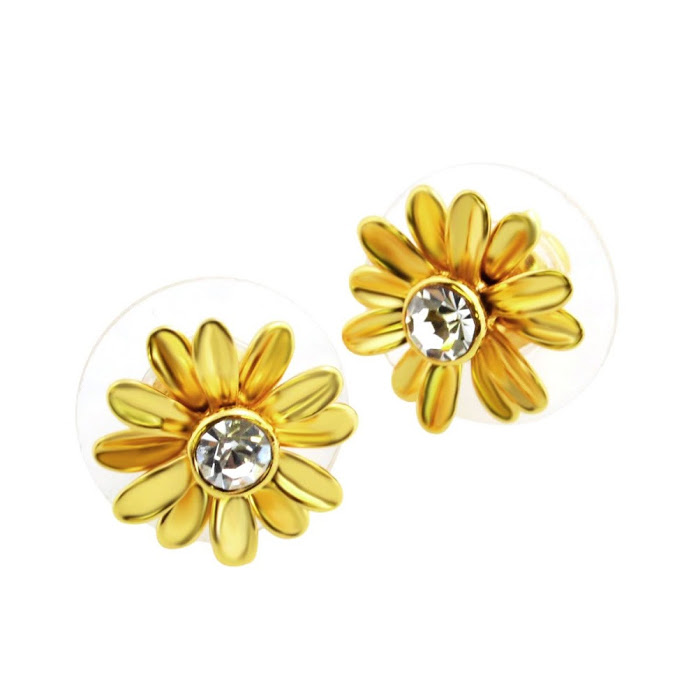 Kate Spade Wbrub940 711 Gold Dazzling Daisies Studs Daisy Motif Stud Earrings