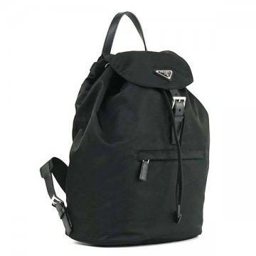 PRADA普拉达背包黑色1BZ032 V44 F0002帆布背包包 ▲