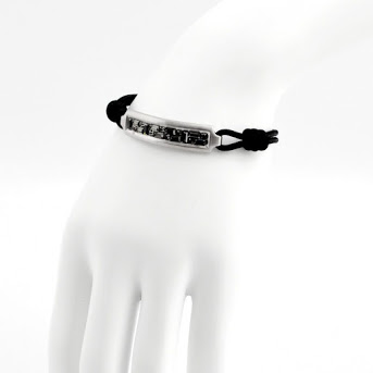 施华洛世奇人收集SWAROVSKI 5191870 Emblem Cord长条面包cut水晶编码手镯