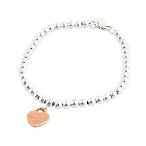 Tiffany Co 30872541 Rtt Return To Bead Bracelet 7 In Ss Rubedo