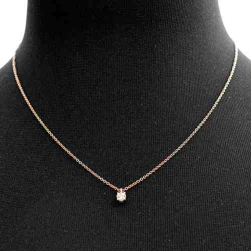 Cuore rakuten global market tiffany tiffany co 30223942 solitaire tiffany tiffany co 30223942 solitaire diamond pendant 017 ct 16 in 18krg necklace aloadofball Images
