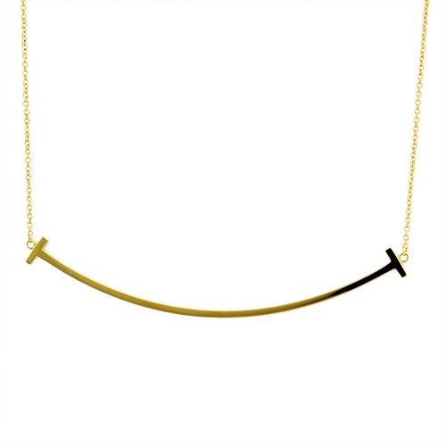 ティファニー TIFFANY&CO 36201525(33637179) Tiffany T スマイル ペンダント 18KYG ネックレス【r】【新品・未使用・正規品】