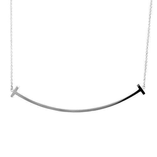 ティファニー TIFFANY&CO 34775346 Tiffany T スマイル ペンダント 18KWG ネックレス【r】【新品・未使用・正規品】