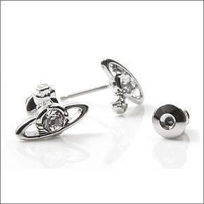 22900fcca ... VIVIENNE WESTWOOD 1 Vivienne Westwood nano solitaire pierced earrings  1112-01-02 ...