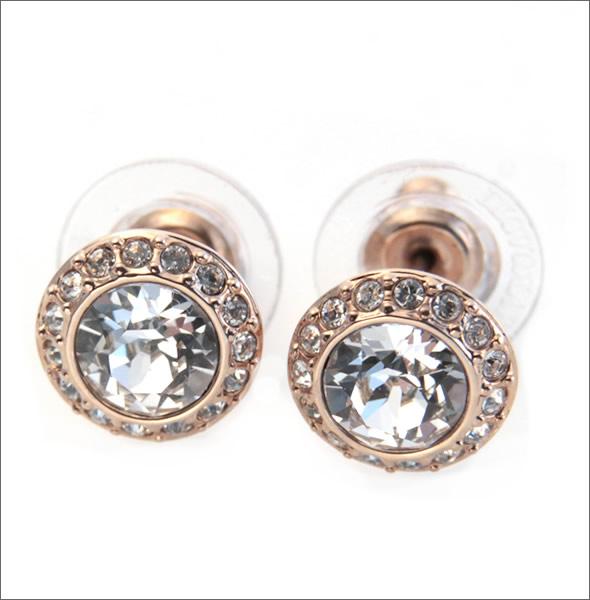 Swarovski Angelic Rose Gold Crystal Pavé Pierced Earrings 511216305p0ec16
