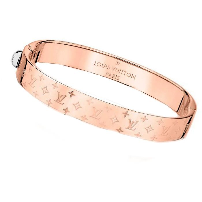 Louis Vuitton 2017 New Bracelet Bangle M00253 Pink Monogram Nanogram Lv