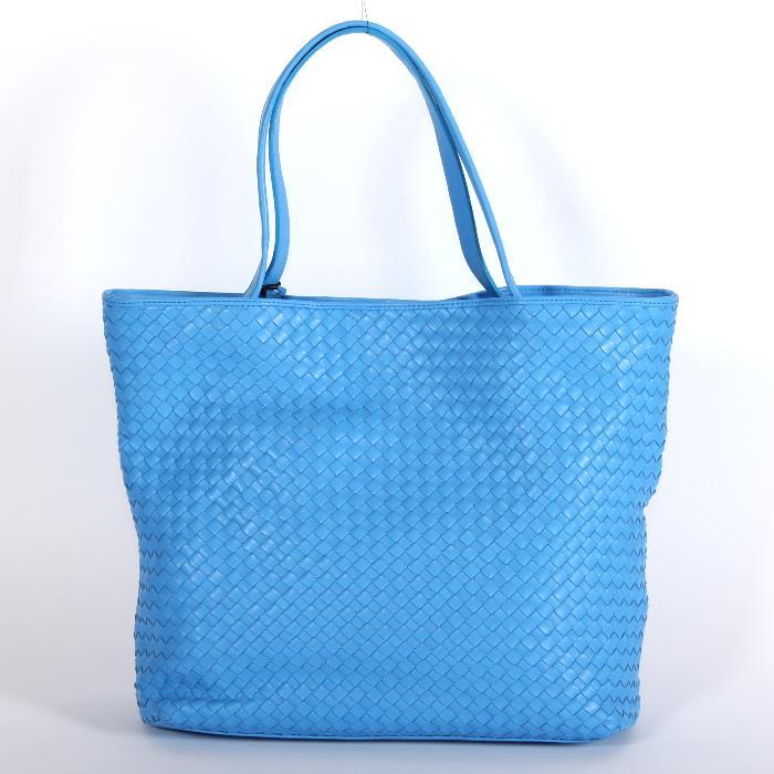 乔治亚 · 兰妮格鲁吉亚兰妮梅丽莎 01 编织手提包蓝色编织皮革转移