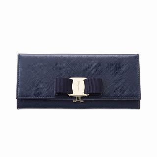 FERRAGAMO 페라가모 22 B559 560813 OXFORD BLUE장 지갑 블루장 지갑