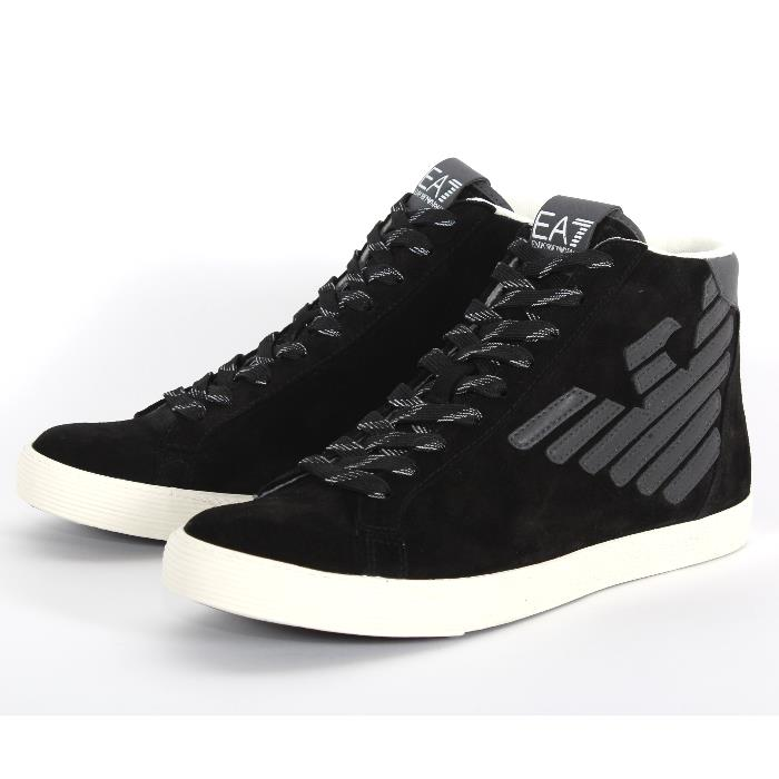 cb9e45d0f427 EMPORIO ARMANI Emporio Armani higher frequency elimination sneakers black  278039 CC299 00020 suede cloth leather iron eagle race up shoes shoes men  ...