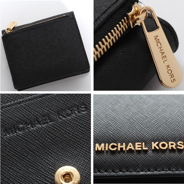 Michael Kors迈克尔套餐对开钱包黑色32T6GTVD2L 001 JET SET TRAVEL CARRYALL CARD CASE卡片匣硬币袋