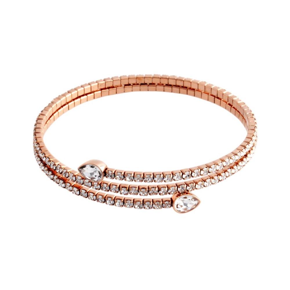 Swarovski SWAROVSKI 5073594 Twisty Cuff Drop PEAR Crystal pavé spiral cuff  Bangle Bracelet b72f15100fe1