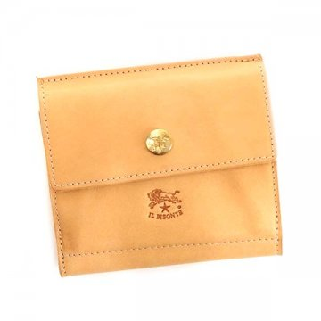 IL BISONTE イルビゾンテ C0910 IV 120アイボリーWホック財布小銭コインケース【】【新品/未使用/正規品】