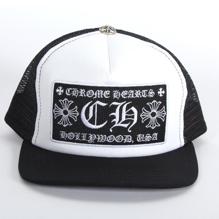 af95e8ed4 CHROME HEARTS chrome Hertz baseball cap 2238-304-3326 black white mesh  silver CH ...