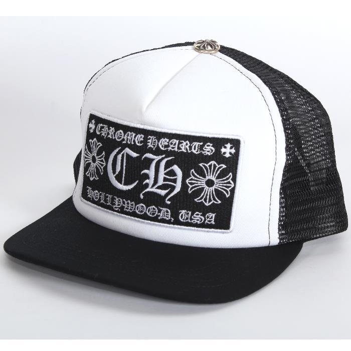 f0cdd7784 ... CHROME HEARTS chrome Hertz baseball cap 2238-304-3326 black white mesh  silver CH ...