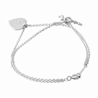Tiffany Co 36339659 Rtt Return Toe Love Heart Tag Key Bracelet Medium Ss 16 5cm