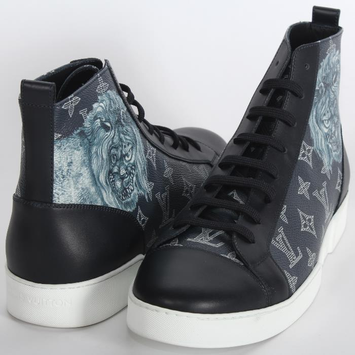 d4420664463 LOUIS VUITTON Louis Vuitton higher frequency elimination sneakers 1A2R6Q  navy monogram tiger thoralion match up line sneakers boots Chapman ...