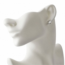 d99c831c20e Gucci GUCCI 455255-J8400-0701 BLIND FOR LOVE window shade four love heart  motif stud bolt pierced earrings