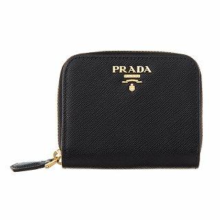 プラダ PRADA 1MM268 QWA F0002 ラウンド2つ折り財布 NEROブラック コインケース【c】【新品・未使用・正規品】