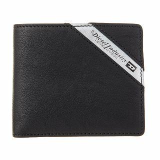 ディーゼル DIESEL X03611 P1221 H6168 二つ折り財布 Black/Dark Acciaio ブラック【c】【新品/未使用/正規品】