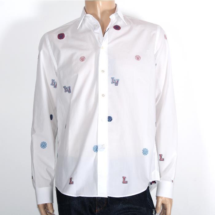 【売れ筋】LOUIS VUITTON ルイヴィトン限定 長袖シャツ レギュラークラシックシャツ1A31CZ ワッペンドレスシャツコットン メンズ コレクション【新品・未使用・正規品】