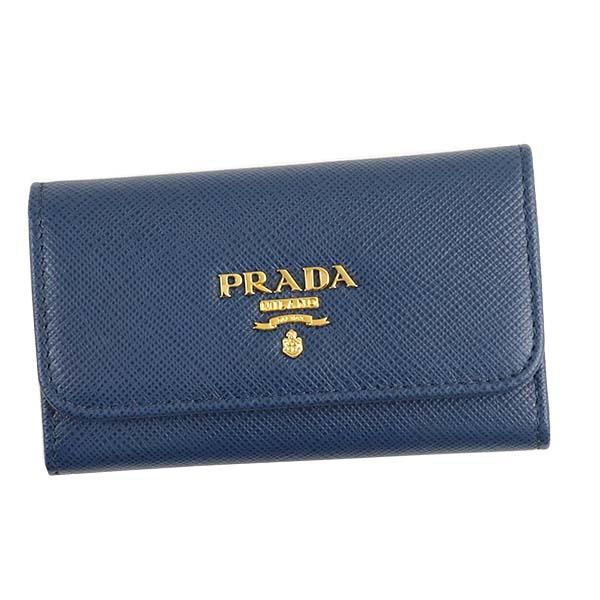 プラダ PRADA 1PG222 QWA D.BL F0016ブルー キーケース 【】【新品・未使用・正規品】