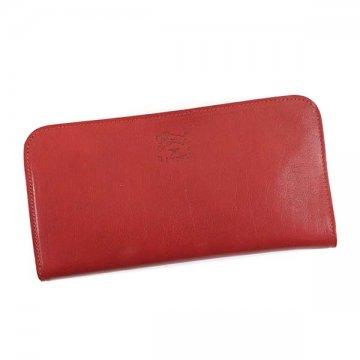 IL BISONTE イルビゾンテ C0909 RED 245L字ファスナー長財布【】【新品/未使用/正規品】