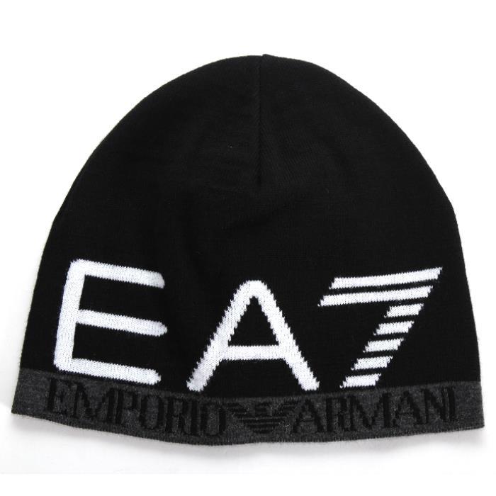 525e8ea14cd EMPORIO ARMANI EA7 Emporio Armani knit hat black 275560 7A393 00020 beanie  hat marketable goods