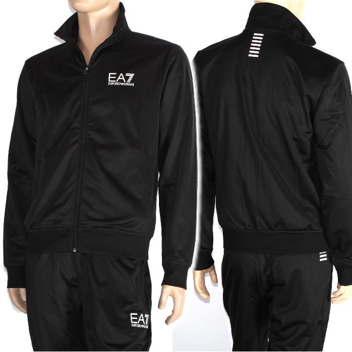 21f6ed767ab EMPORIO ARMANI EA7 Emporio Armani sweat suit black 6YPV70 PJ08Z 1200 truck  jacket underwear top and bottom set men marketable goods