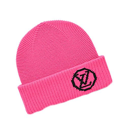CUORE  LOUIS VUITTON knit hat M71103 pink wool knit Bonnet LV collage beanie  Louis Vuitton marketable goods  83603e9fa19