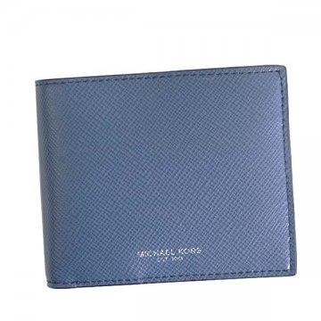 2a209f92fe91 Michael Kors MICHAEL KORS 39F5LHRF3L HARRISON SEABLUE 482 folio wallet coin  small change