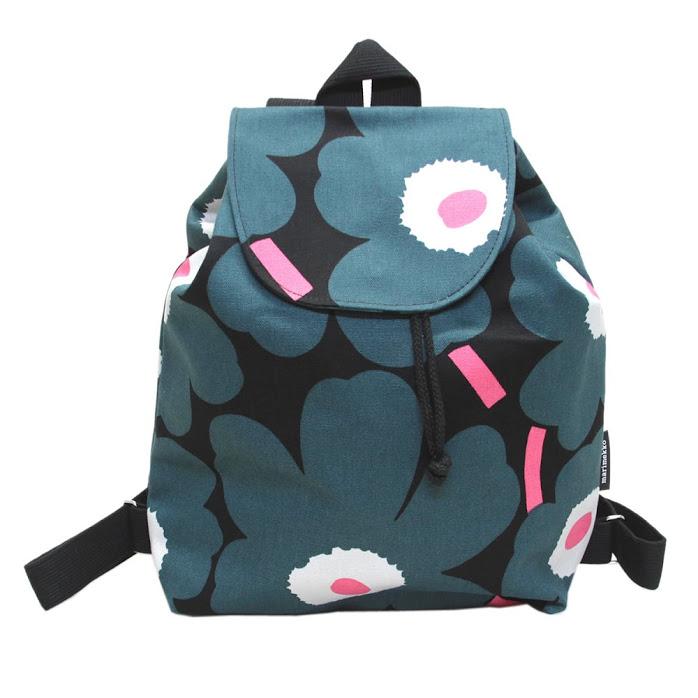 aa60b6ac41 マリメッコ marimekko 045239 963 cotton canvas rucksack backpack ERIKA PIENI  UNIKKO