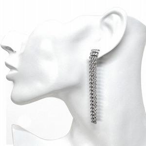 Swarovski 5293087 Crystal Mesh Long Pierced Earrings Fit