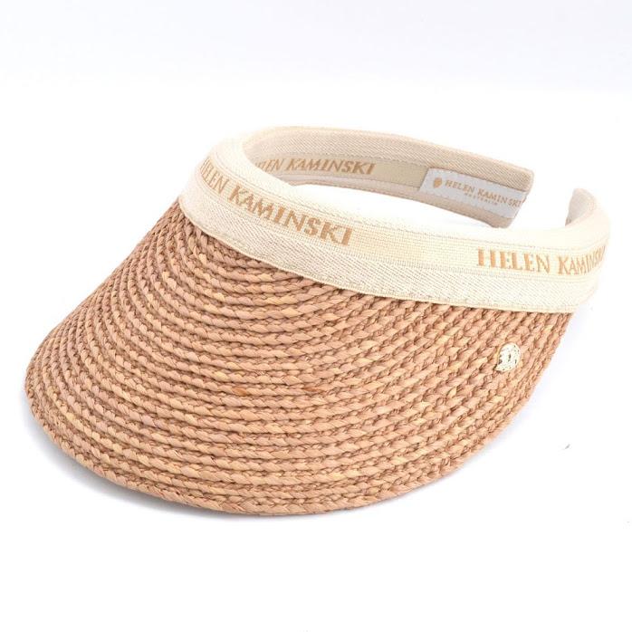 ヘレンカミンスキー HELEN KAMINSKI Marina Nougat/Natural Logo マリーナ UPF50+ サンバイザー ラフィア製ハット レディス帽子【r】【新品・未使用・正規品】