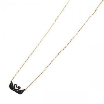 2d1ae5670 CUORE: Swarovski 5296468 ICONIC SWAN DOUBLE pendant necklace ...