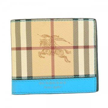 バーバリー4065191 REG CCBILL8 HYM L.BL二つ折り財布カードケース【】【新品/未使用/正規品】
